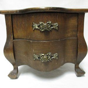Other - Schmid Vintage Wood Chest Jewelry Box Chest